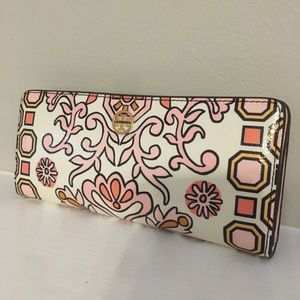 Tory Burch Hicks Garden Party Slim Leather Wallet